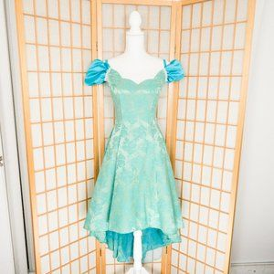 VTG Roberta Emerald & Blue Formal Dress Sz 8/10